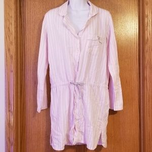 Victoria's Secret Pink Striped Night Shirt Small